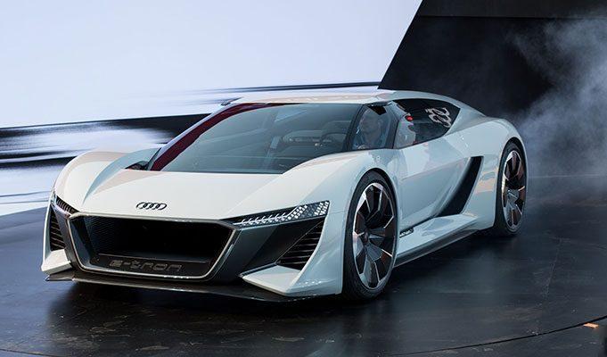 Audi' nin Yeni Elektrikli Spor Araba Modeli PB18 E- Tron