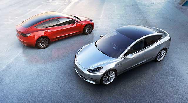 Tesla Model 3 Renkler