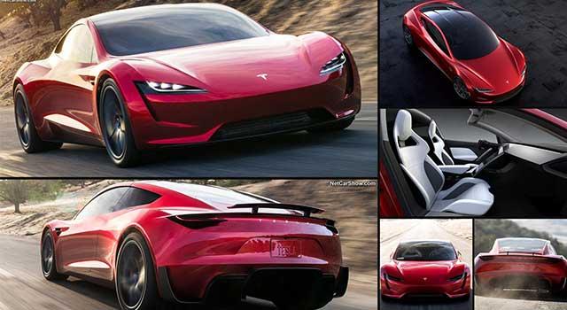 Tesla Model Roadster Kırmızı