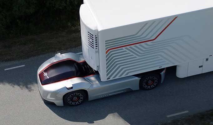 Volvo Trucks Geleceğin Otonom ve %100 Elektrikli Tırını Tanıttı