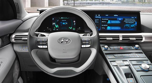 Hyundai Nexo Fuel Cell İç Dizayn