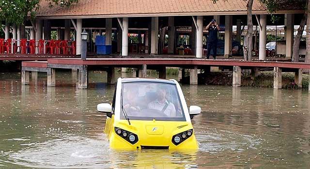Sel Baskınlarına Dayanaklı Yüzebilen Elektrikli Araba: FOMM One