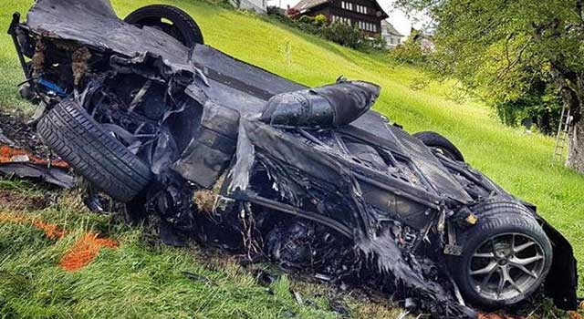 Rimac Concept One Kaza Yangın