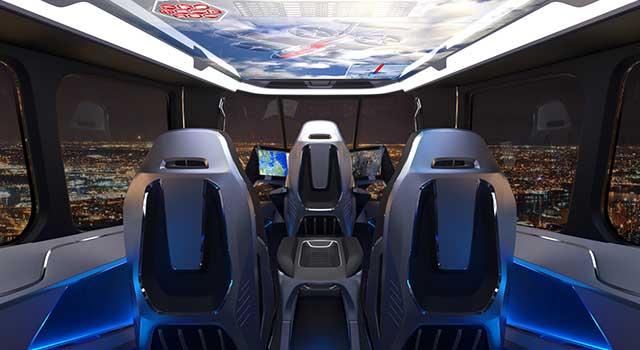 Bell Hibrit Elektrikli Uçan Araba İç Dizayn