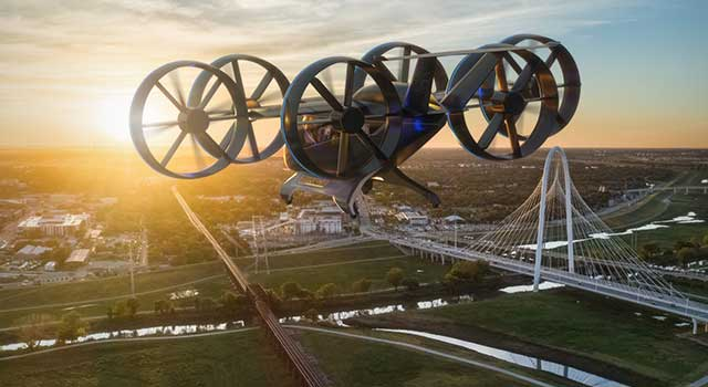 Bell Hibrit Elektrikli Uçan Araba